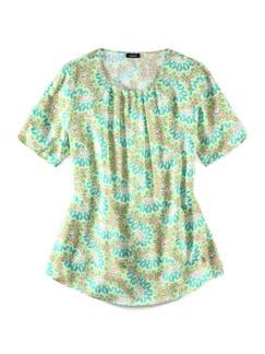 Viskose-Shirtbluse Bella Italia Grün Detail 2