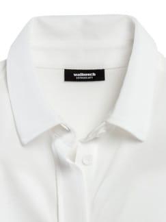 Extraglatt Pique-Bluse Weiß Detail 3