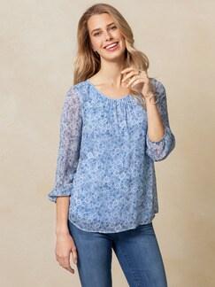 Shirtbluse Daisy Himmelblau Detail 1