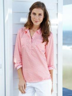 Shirtbluse Seaside Minimal Korall Detail 1