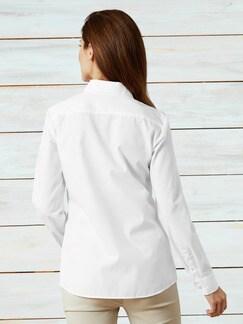 Extraglatt-Hemdbluse Weiß Extraglatt Detail 3