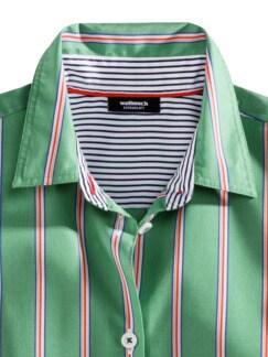 Extraglatt-Hemdbluse-Everyday Streifen Grün Detail 3