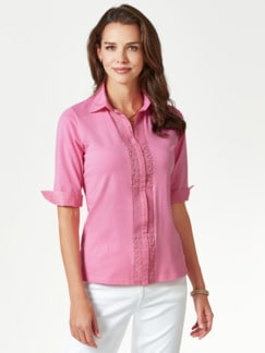 Jersey-Bluse Exquisit Pink Detail 1