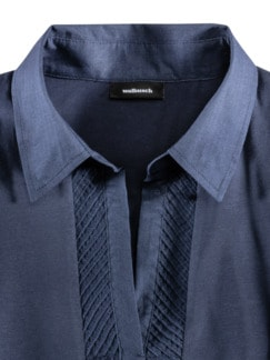Jersey-Bluse Exquisit Marine Detail 3