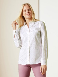 Easycare-Bluse Summer Love Rose Geblümt Detail 1