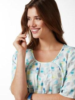 Shirtbluse Porcellana Aqua Detail 4