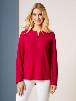 Reißverschluß Bluse Sport Couture Rot Detail 1