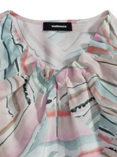 Shirtbluse Falten-Drape Rose/Blau Detail 4