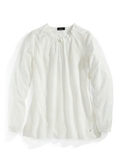 Shirtbluse Falten-Drapé