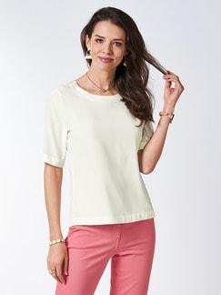 Seiden-Shirtbluse Edel-Basic Off White Detail 1