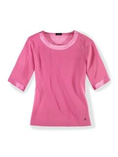 Seiden-Shirtbluse Edel-Basic Pink Detail 2