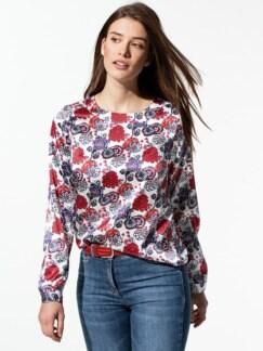 Seiden-Shirtbluse Edel-Basic Multicolor Detail 1