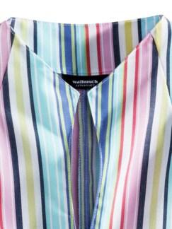 Extraglatt-Bluse Kelchkragen Streifen Multicolor Detail 3