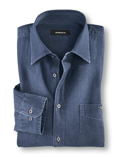 Jeans-Hemd Indigo
