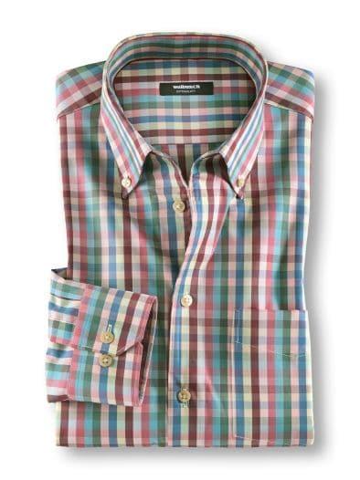 Extraglatt-Hemd 7-Farben-Karo