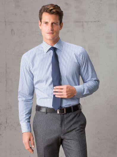 Masterclass vollzwirn hemd blau walbusch - Vollzwirn hemd ...