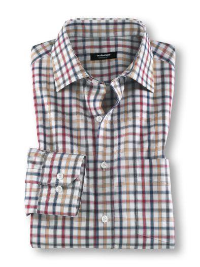 Walbusch: zwei bügelfreie Hemden (versch. Farben + Muster