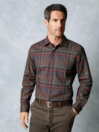 Reißverschluss-Hemd Wintertwill