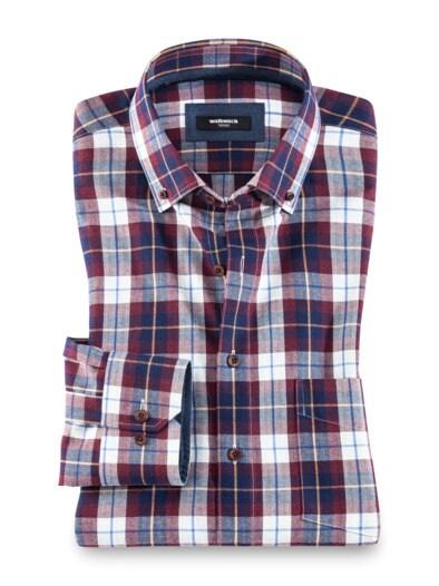 Flanell-Hemd Cashmere-Blend