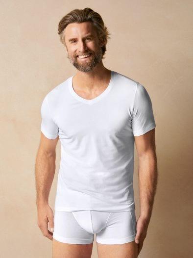 Schiesser V-Shirt Long Life Soft