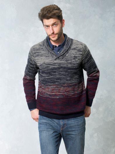 Alpaka Schalkragen Pullover