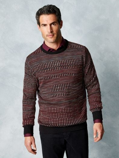 Jacquard- Pullover Farbklaviatur