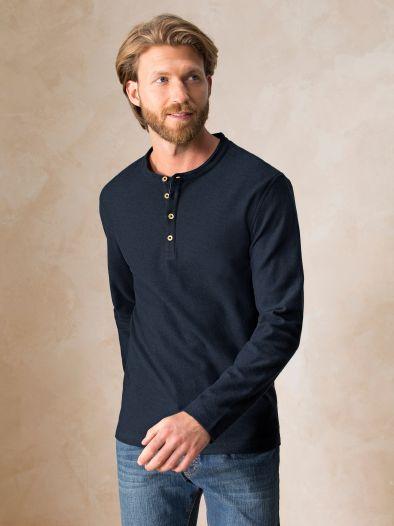 Jacquard-Henley-Shirt