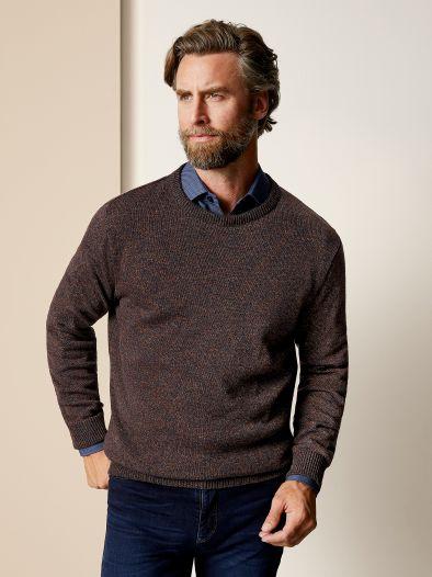 Rundhals- Pullover Farbeffekt
