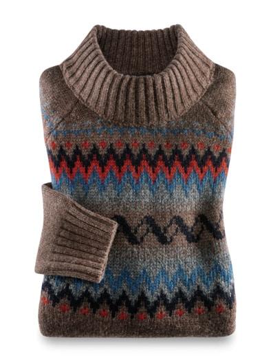Norweger Pullover Baby Alpaka