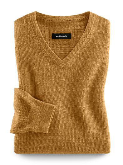 V-Pullover Natural Cotton