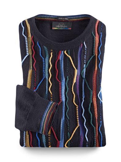 carlo colucci pullover farbwellen im online shop bequem. Black Bedroom Furniture Sets. Home Design Ideas