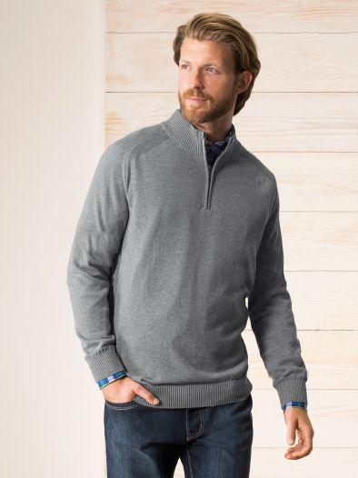Zip Troyer Cotton/Cashmere