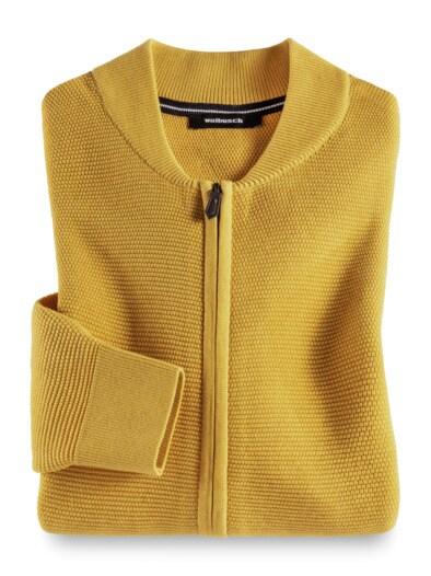 Zip-Strickjacke Soft Cotton