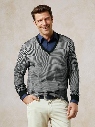 3 D V- Pullover