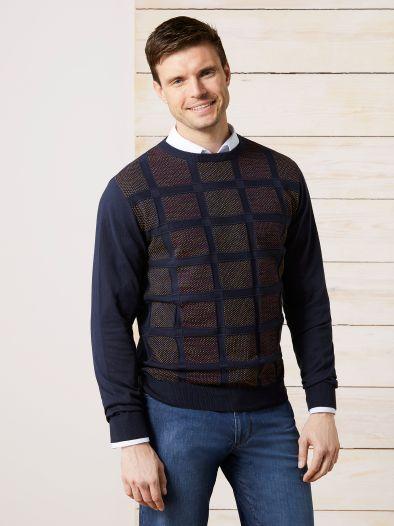 Jacquard Pullover Quadro