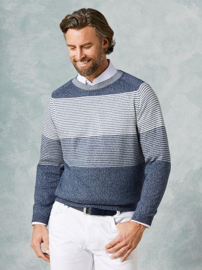 Rundhals Pullover Streifen