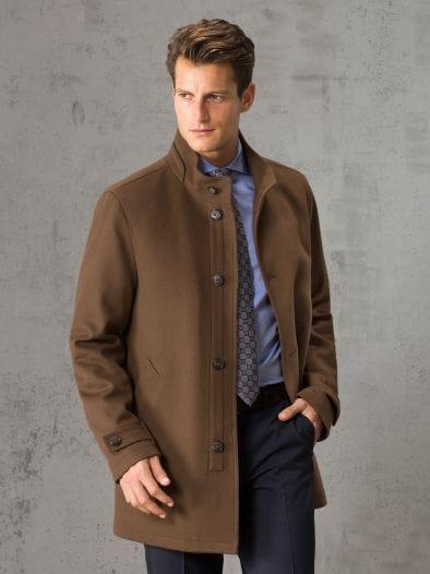 Stehkragen Mantel