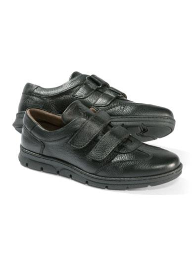 Hirschleder-Doppelklett-Sneaker