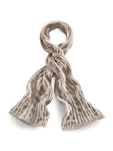 Grobstrick-Alpaka-Schal