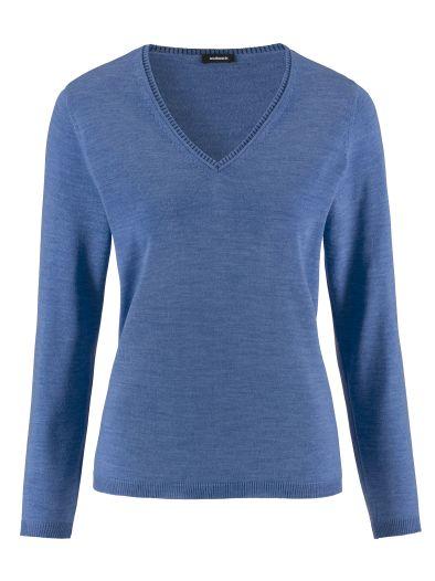 Merino Pullover V Ausschnitt