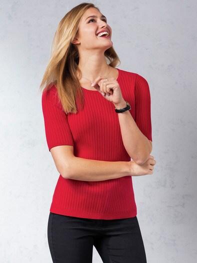Strick Shirt Pima Cotton Streifen