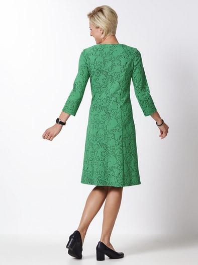 Jerseykleid Blumenranke Fur Damen Walbusch