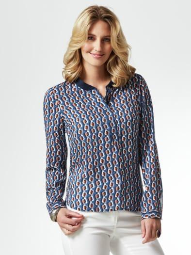Strickkragen Shirtbluse Grafikdesign