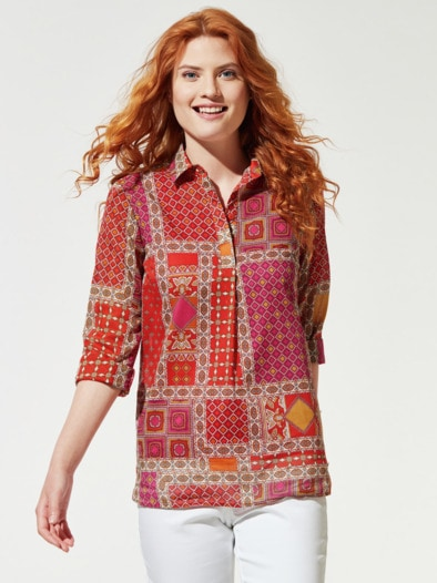 Patchwork Shirtbluse