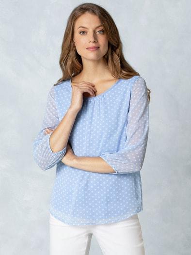 2in1 Tupfen-Shirtbluse
