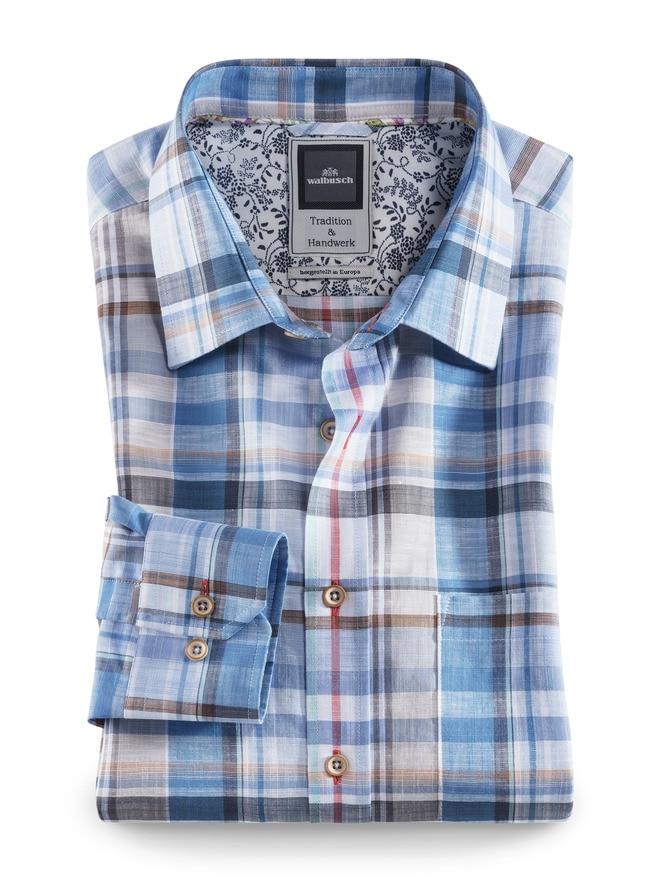 Baumwoll-Leinen-Hemd