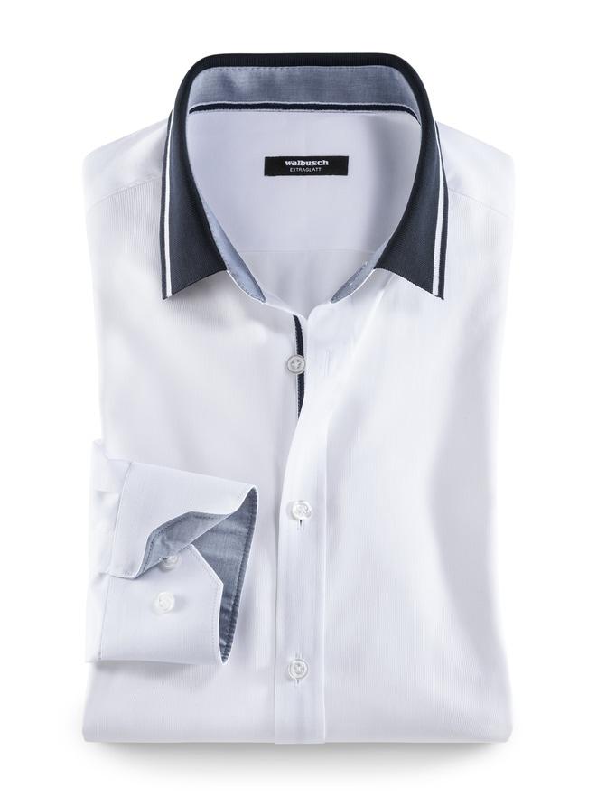 Extraglatt-Hemd Polokragen