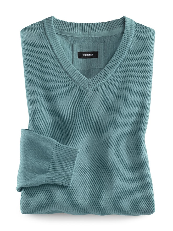 Struktur-Pullover Coolcotton