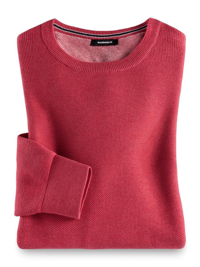 Struktur-Pullover Soft Cotton