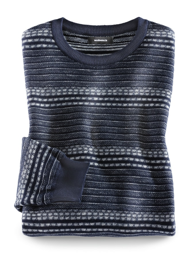 Leicht-Pullover Strukturmix